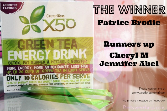 Greentea x50 giveaway winners