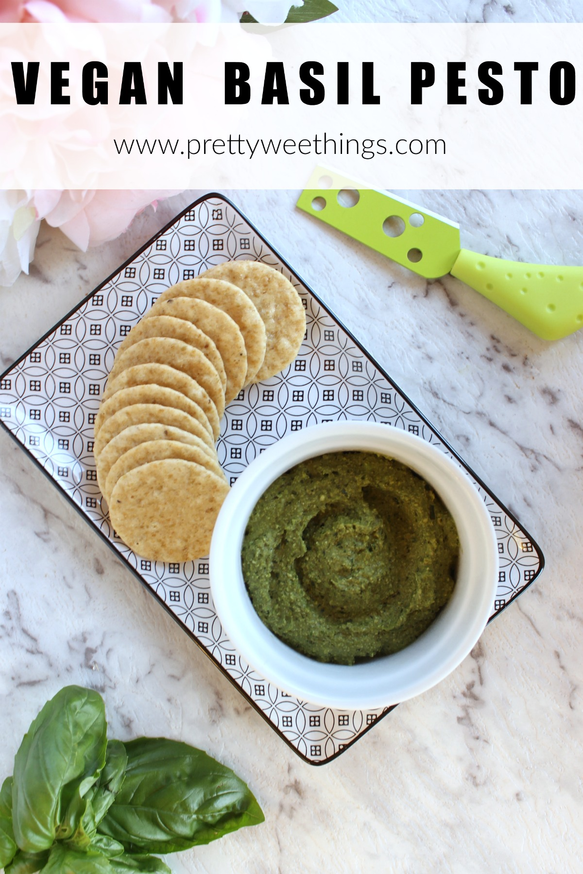 A delicious and nutritious vegan basil pesto, perfect for those avoiding dairy. Simple to make and delicious to eat. You won't notice it's dairy free!