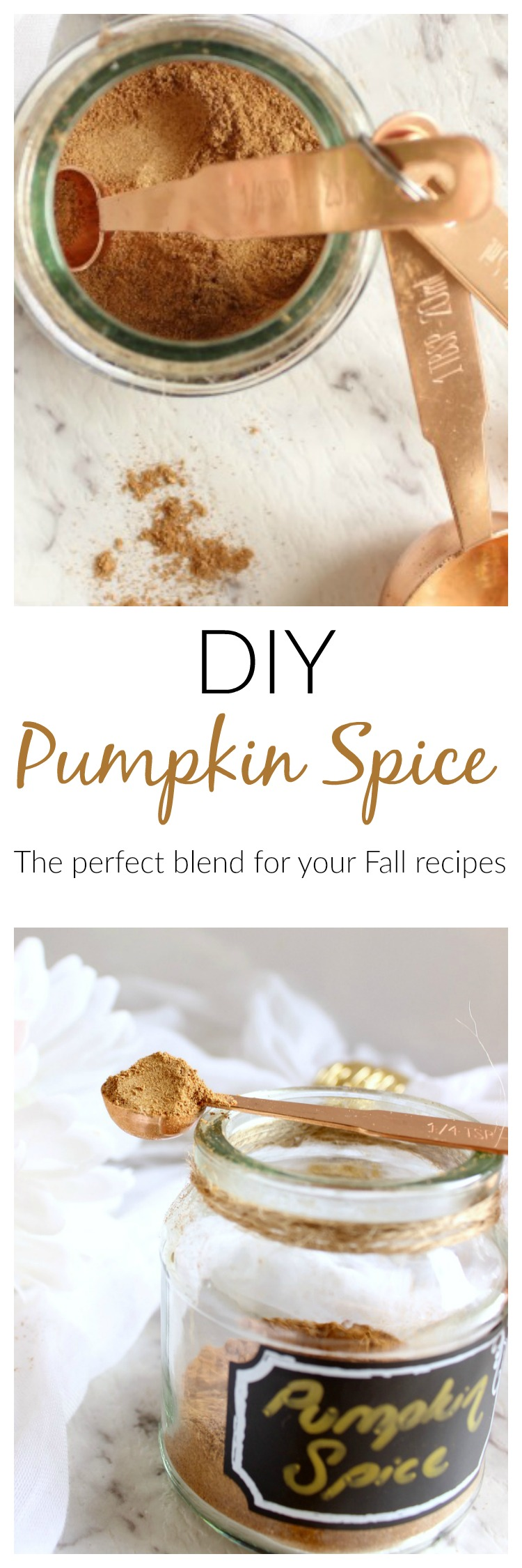 I adore this DIY pumpkin spice blend in a (nourishing) pumpkin spice latte.  I love the sweet cinnamon and nutmeg along with more firey ginger and allspice. Recipe www.prettyweethings.com