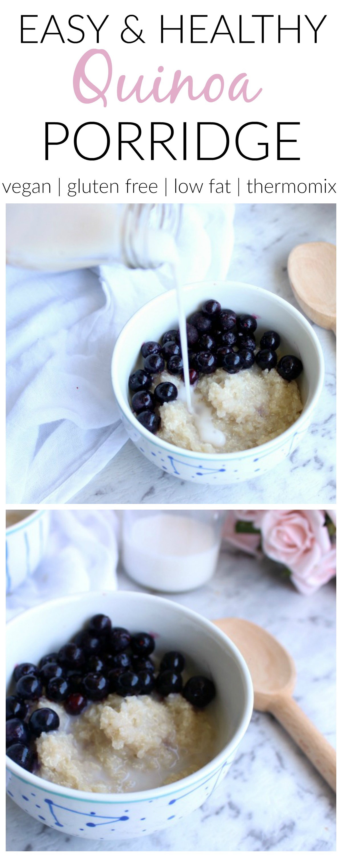 This easy and healthy quinoa porridge is just as nourishing, just as filling and delicious. It also has the added bonus of being totally gluten free!