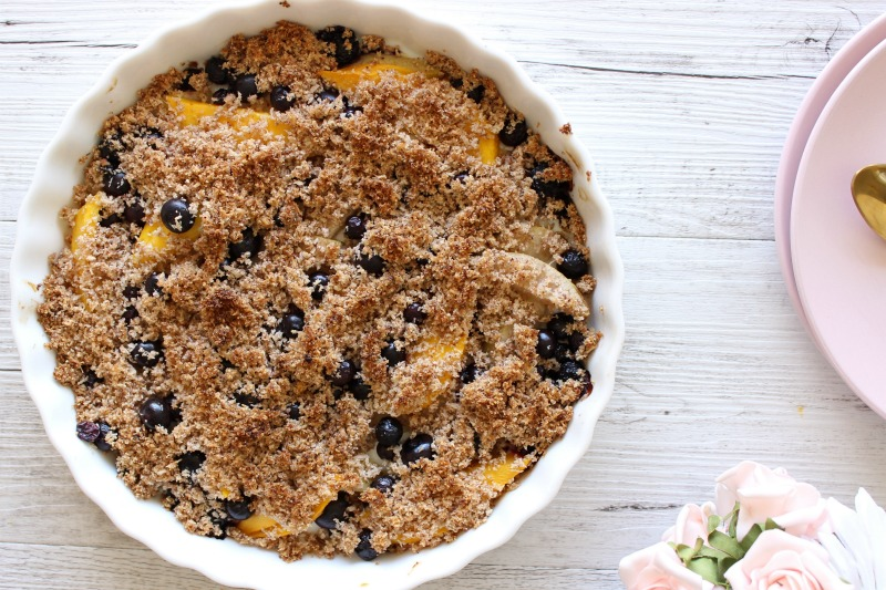 The most divine NOURISHING Fruit Crumble you'll try this Summer | Dairy free, Vegan, Paleo