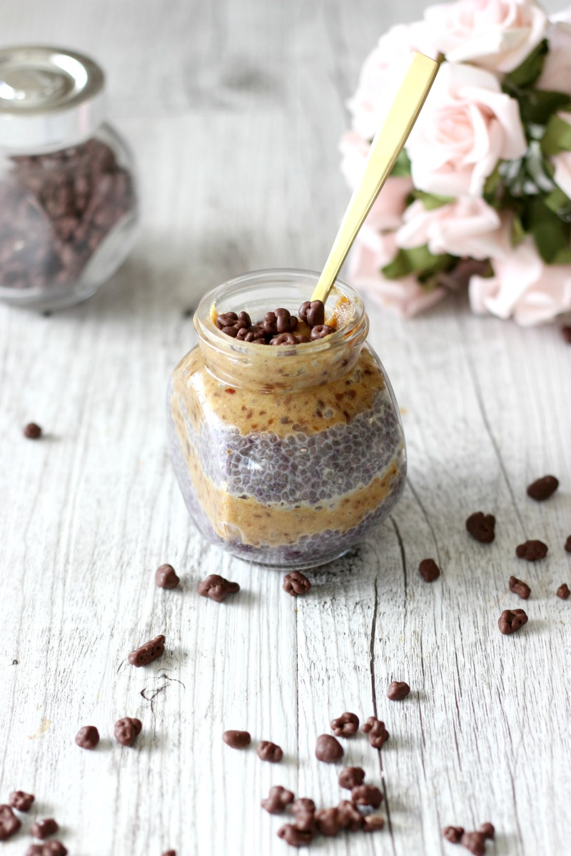 Not only is it delicious to eat, but this salted caramel chia seed pudding is also vegan-friendly, dairy free, refined sugar free and gluten free.