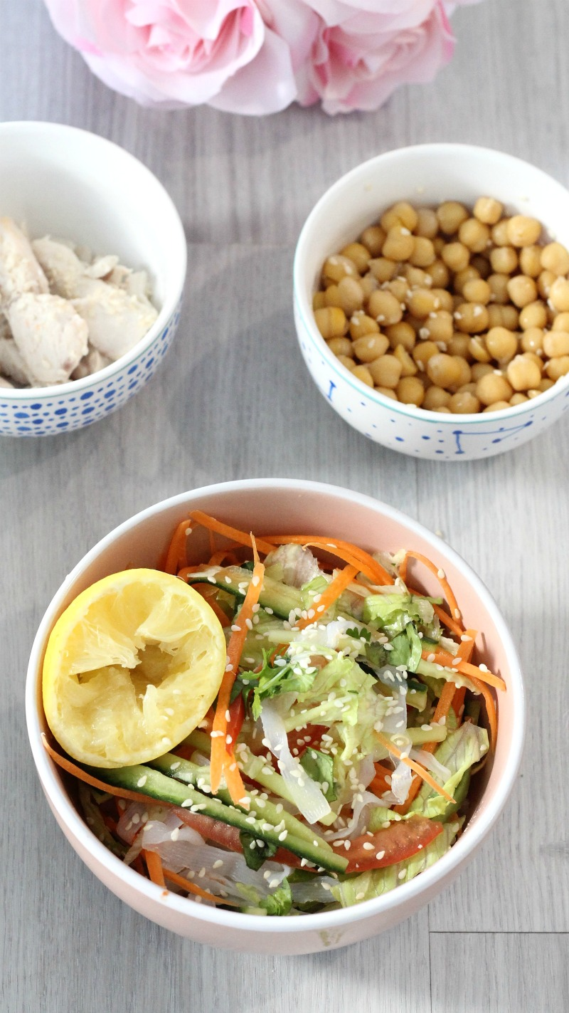 If you're getting stuck for quick and simple meal ideas that are still healthy, you'll love this Thai inspired lower carb noodle salad.  Made in minutes.
