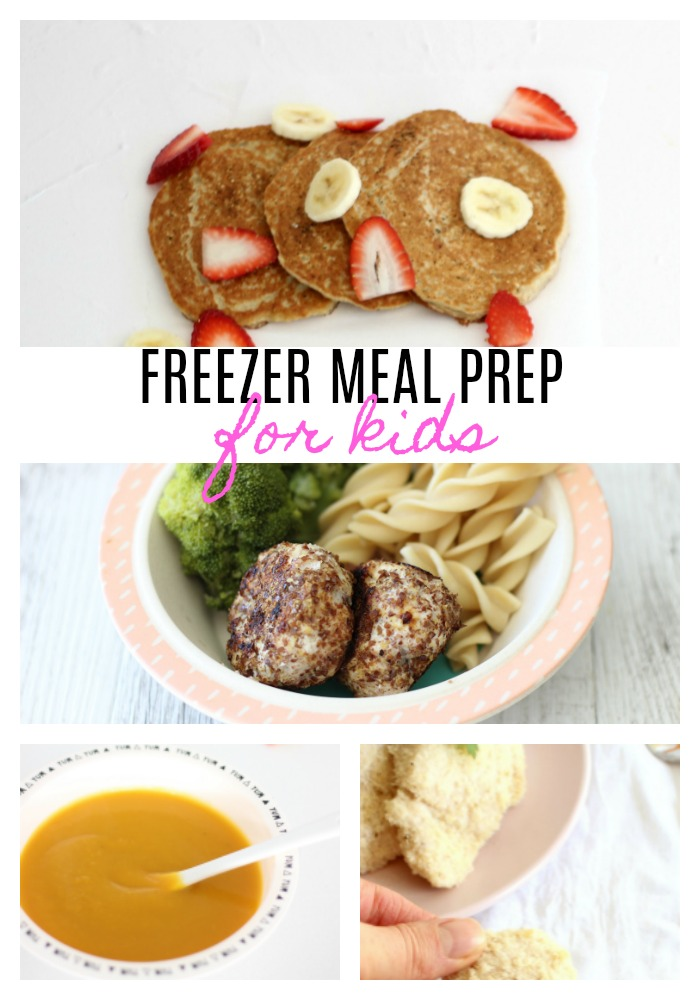 These quick and easy freezer meal prep for kids meals are PERFECT for kids and take less than an hour to prepare from start to finish.